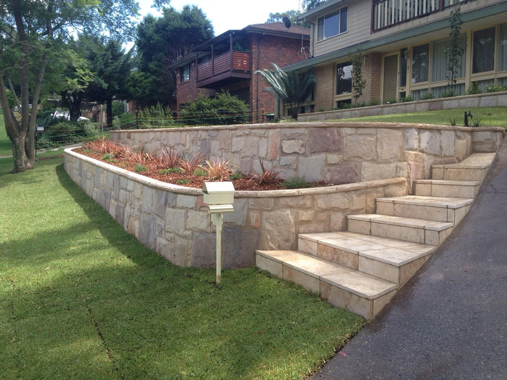 Retaining walls sydney sydney paving landscaping for Garden landscape retaining walls